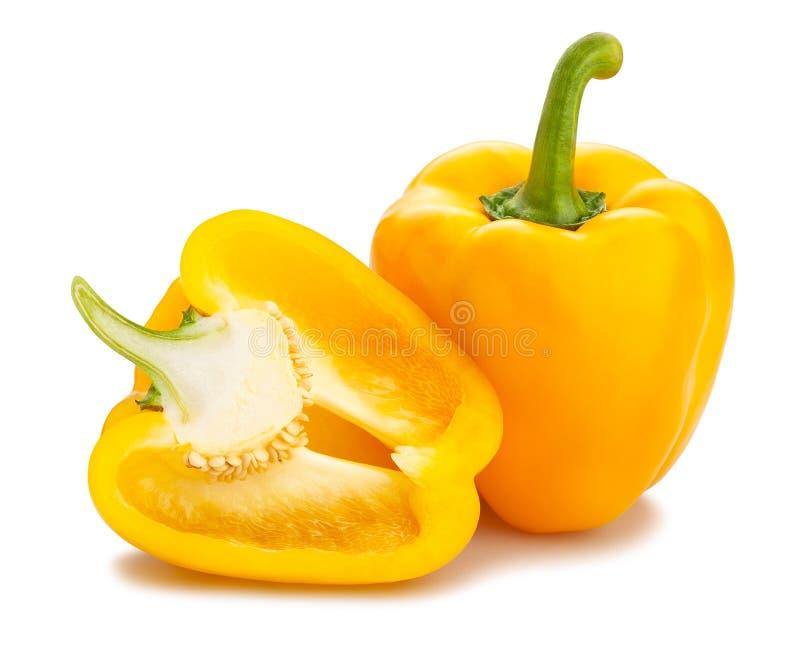 Gele Groene paprika stock foto's