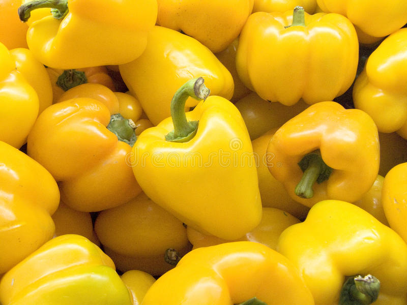 gele groene paprika of paprika royalty-vrije stock fotografie