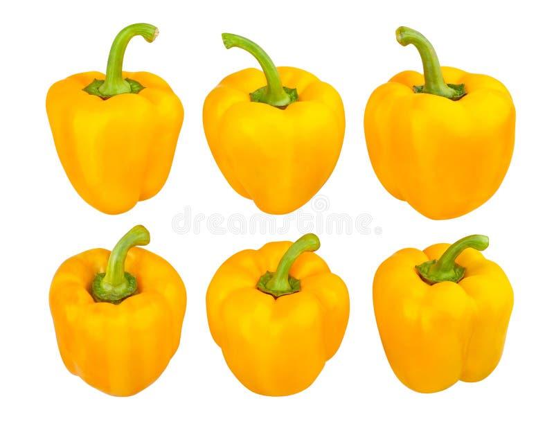 Gele Groene paprika royalty-vrije stock fotografie