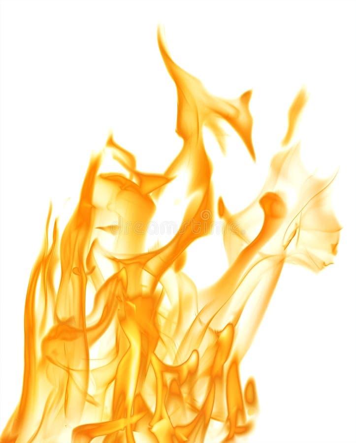 Gele grote die brandvonken op wit worden geïsoleerd stock fotografie