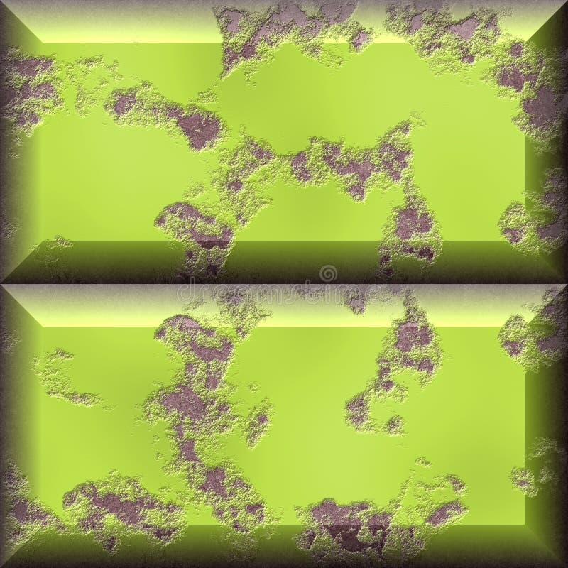 Gele grungeblokken vector illustratie