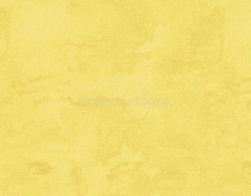 Gele grungedocument achtergrond met waterverftextuur stock afbeeldingen