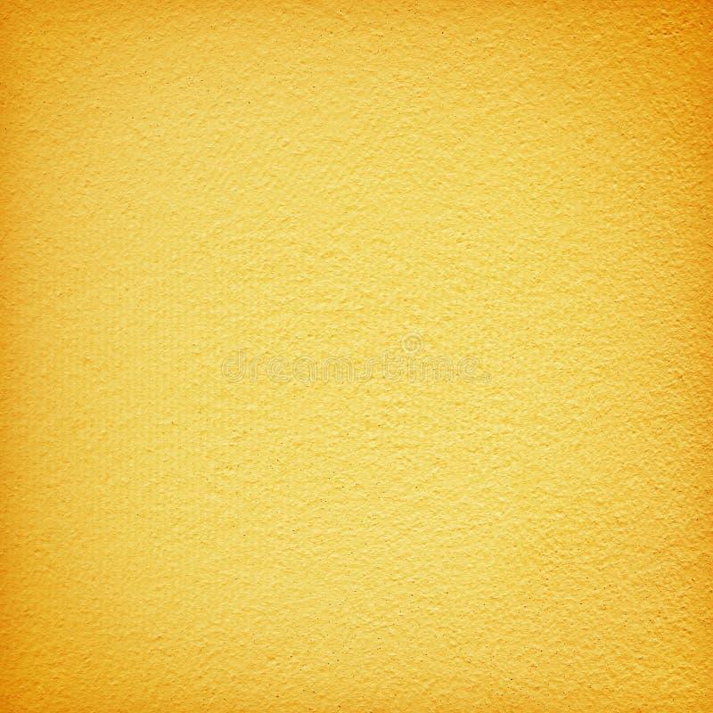 Gele grungemuur voor textuurachtergrond royalty-vrije stock foto's