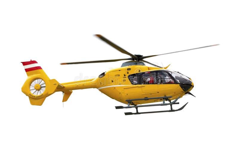 Gele helikopter stock foto's