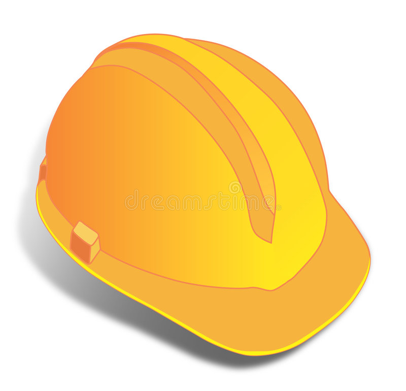 Gele Helm vector illustratie