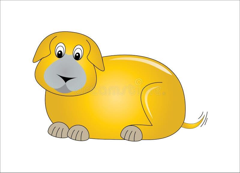 Gele hond stock foto's