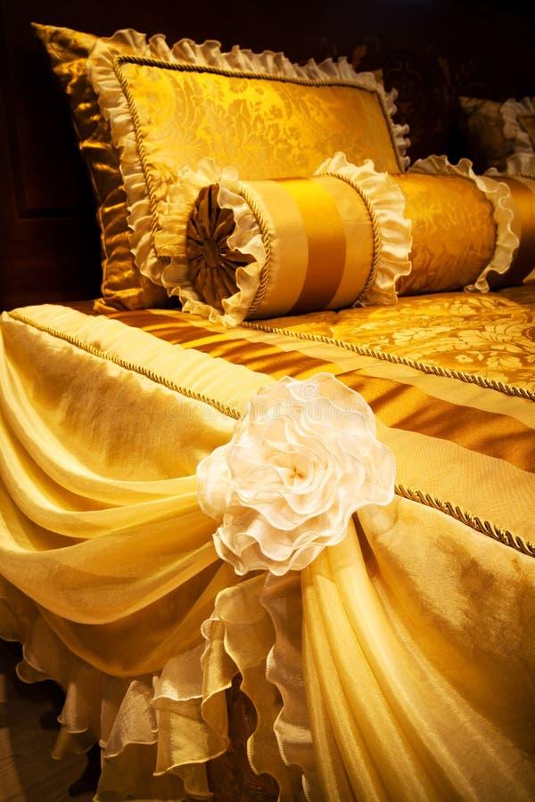 Gele hoofdkussens royalty-vrije stock afbeelding