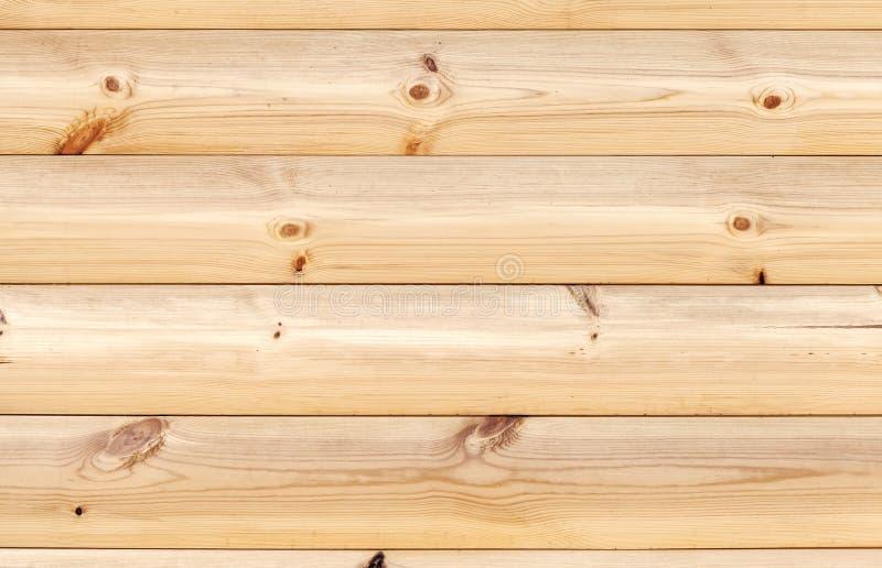 Gele houten die muur van de raad van de pijnboomboom wordt gemaakt royalty-vrije stock afbeeldingen