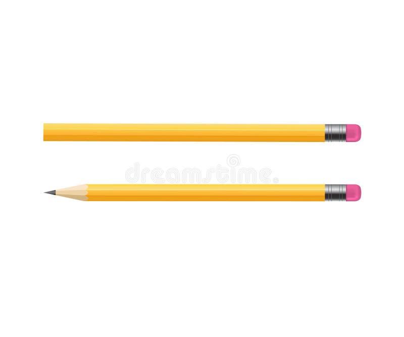 Gele Houten scherp stock illustratie