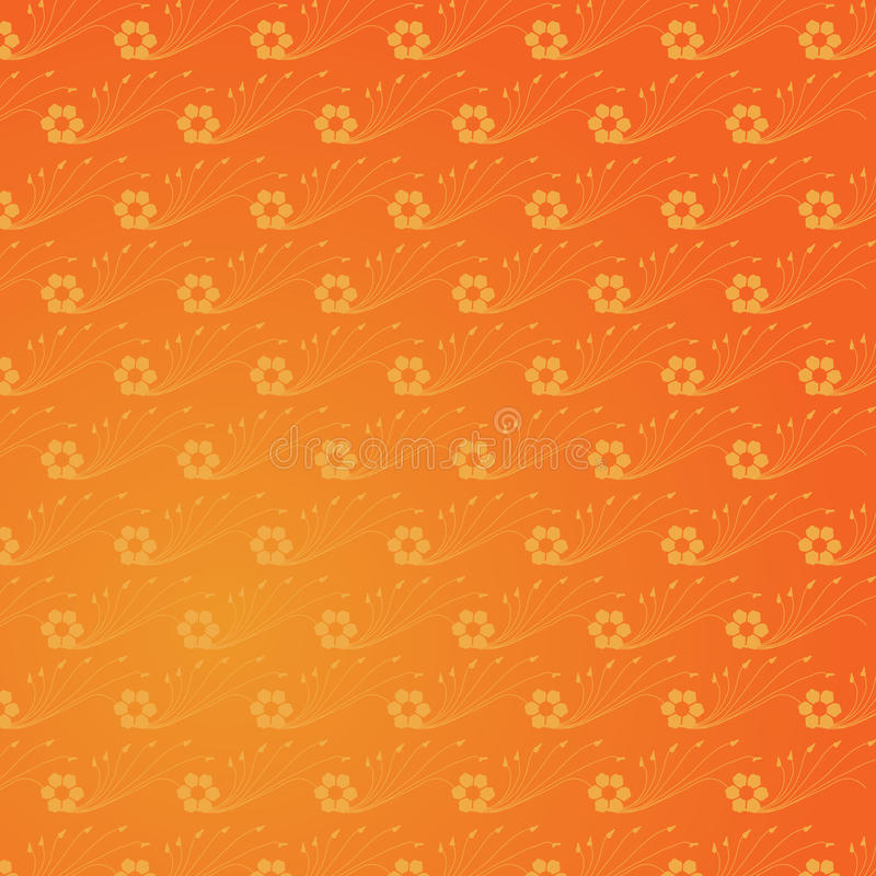 Gele Indische achtergrond stock illustratie