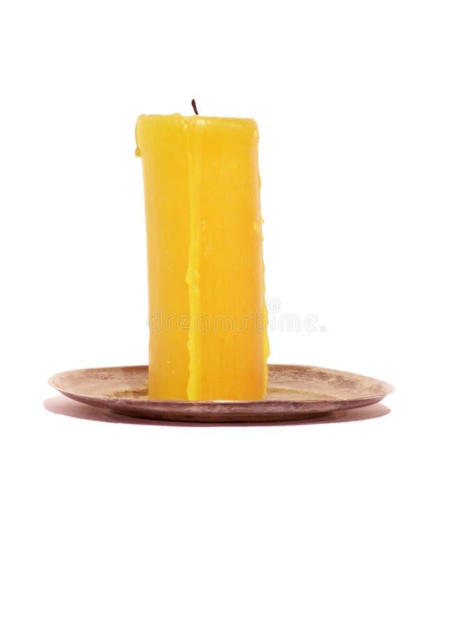 Gele kaars stock afbeelding