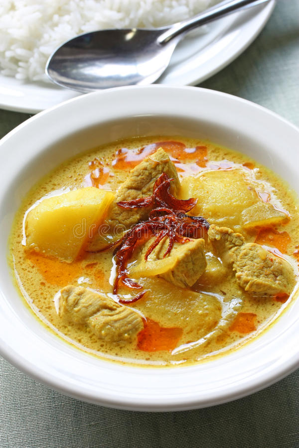 Gele kerrie, Thais voedsel royalty-vrije stock fotografie