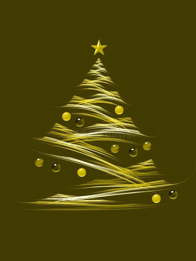 Gele Kerstmisboom stock illustratie