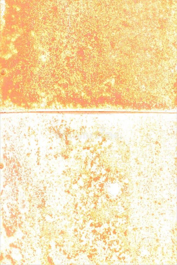 Gele kleur van roest op metallplaat royalty-vrije stock fotografie