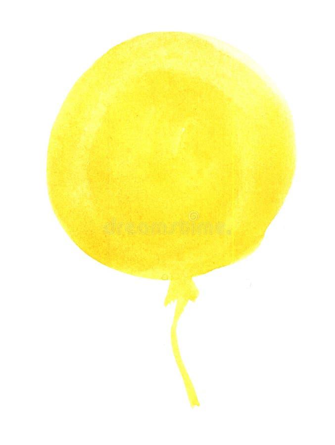 Gele kleurrijke vakantieballon royalty-vrije stock foto