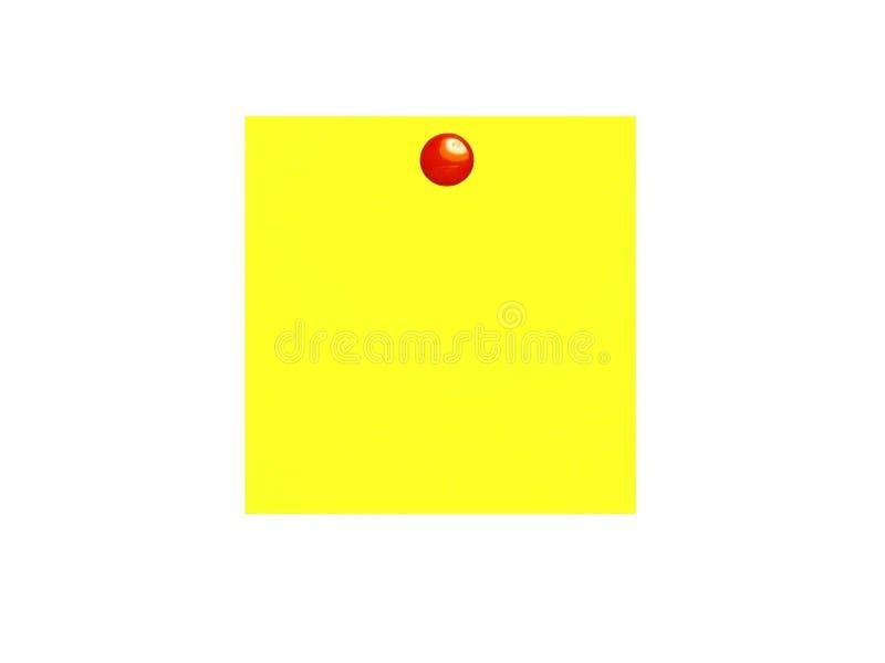 Gele Kleverige Nota Stock Foto