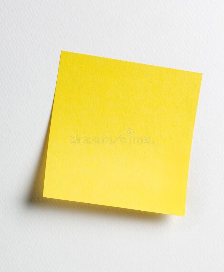 Gele kleverige nota stock afbeelding