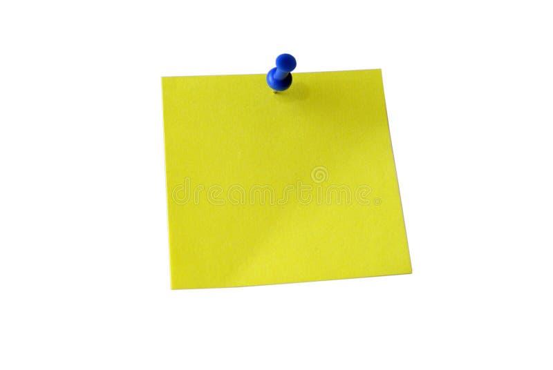 Gele kleverige nota. Knippende weg.