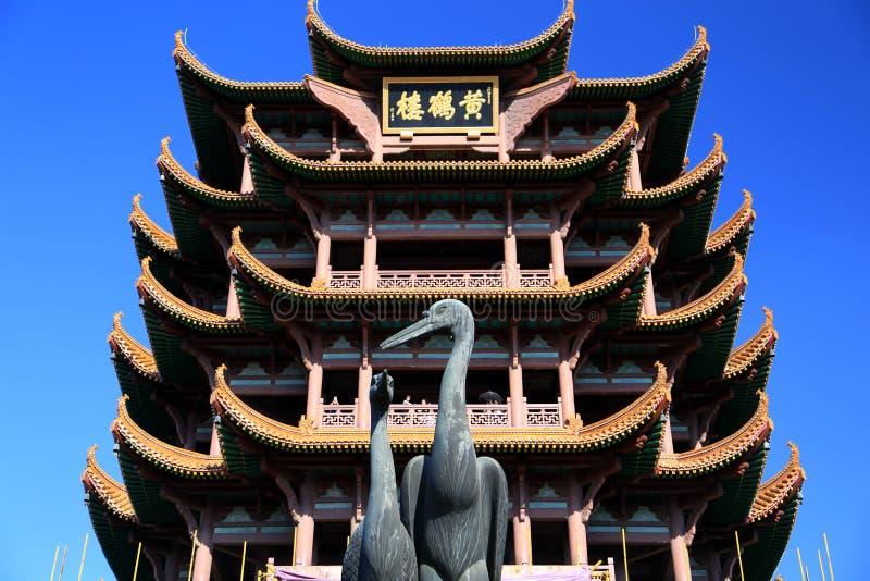 Gele Kraantoren in Wuhan-stad royalty-vrije stock fotografie