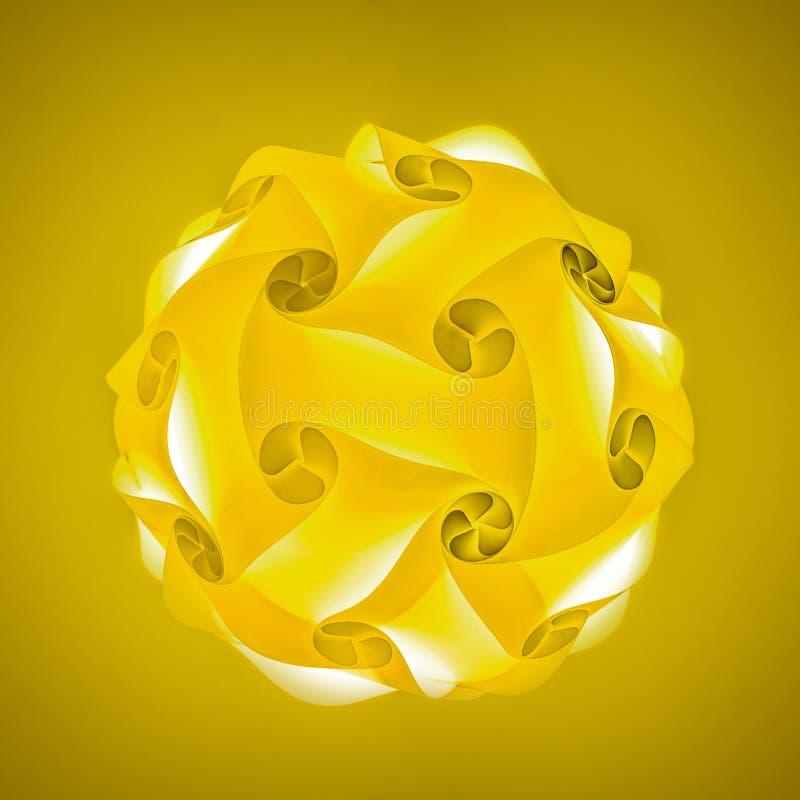 Gele lampekap vector illustratie