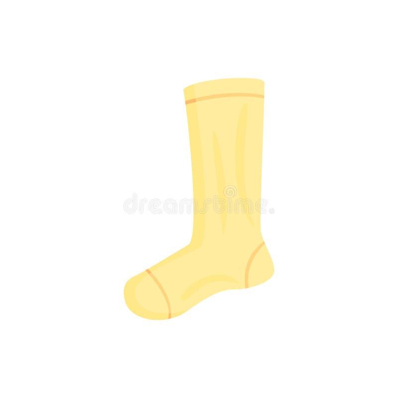 Gele lange ectorillustratie van de sportsok stock illustratie