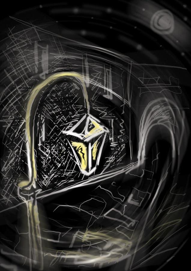 Gele lantaarn vector illustratie