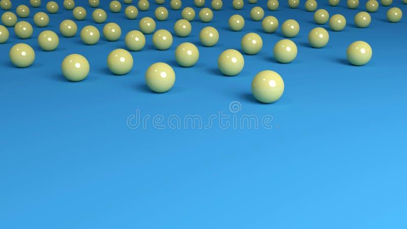 Gele Marmer hoogste Grens Als achtergrond royalty-vrije illustratie