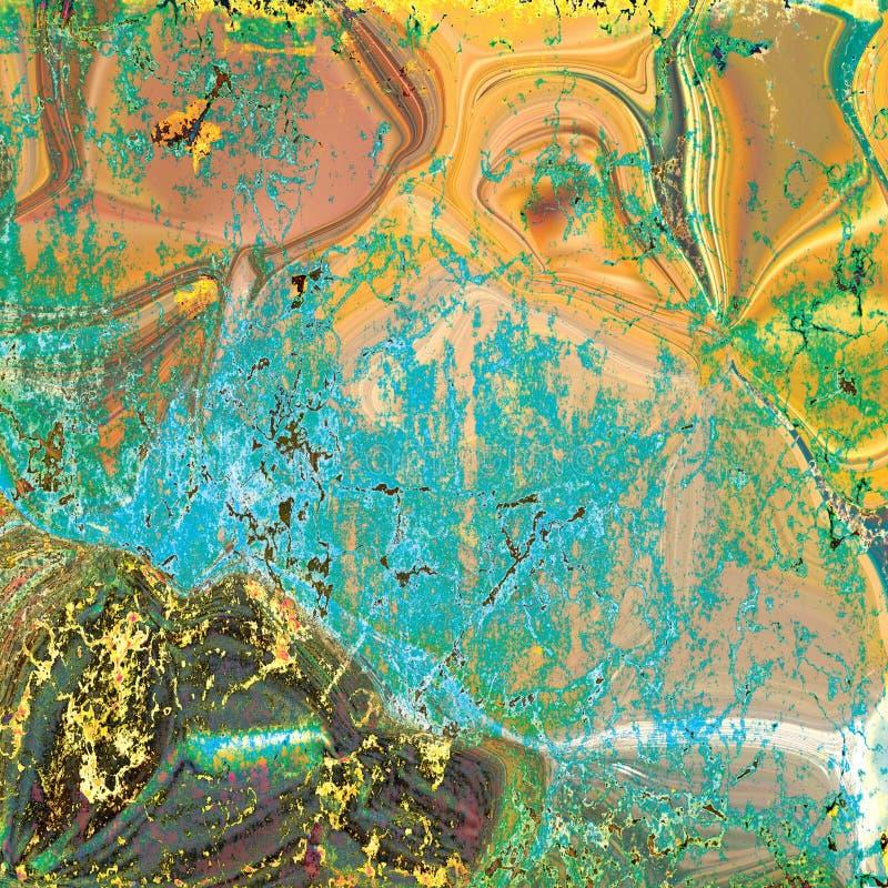Gele Marmeren textuur, gedetailleerde die structuur van marmer in natuurlijk voor achtergrond wordt gevormd en ontwerp royalty-vrije illustratie