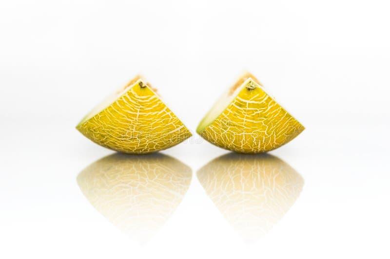 Gele Meloen stock afbeeldingen