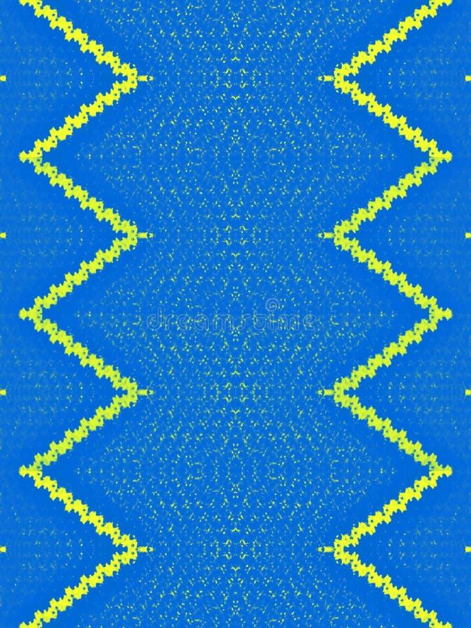 Gele Mengelings Blauwe Textuur met Grenzen stock foto's