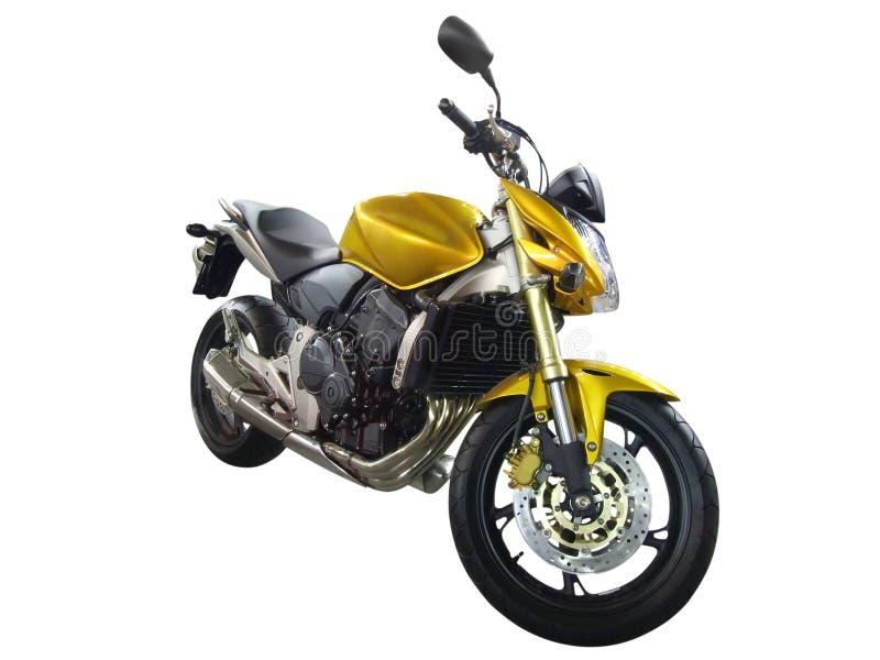 Gele motorfiets royalty-vrije stock fotografie