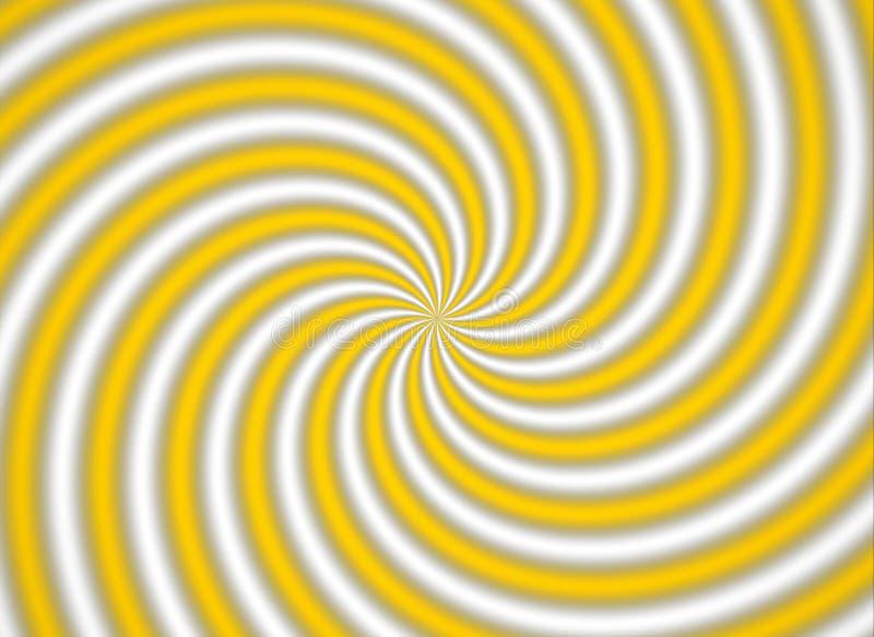 Gele multispiral stock afbeeldingen