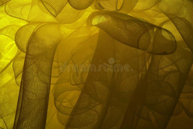 Gele netto bloem royalty-vrije stock afbeelding