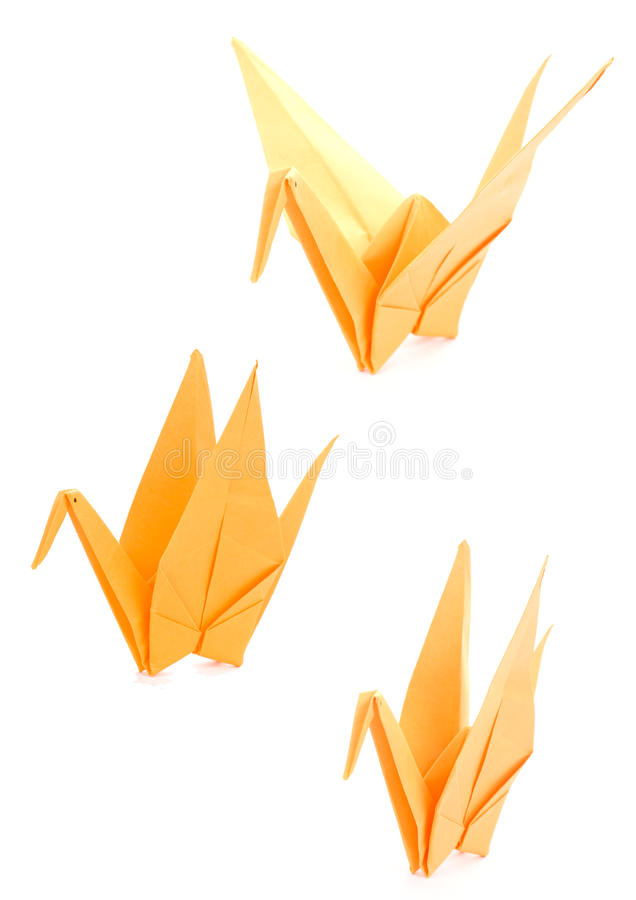 Gele Origami royalty-vrije stock afbeelding