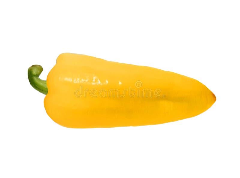 Gele peper die op wit wordt ge?soleerd stock afbeelding