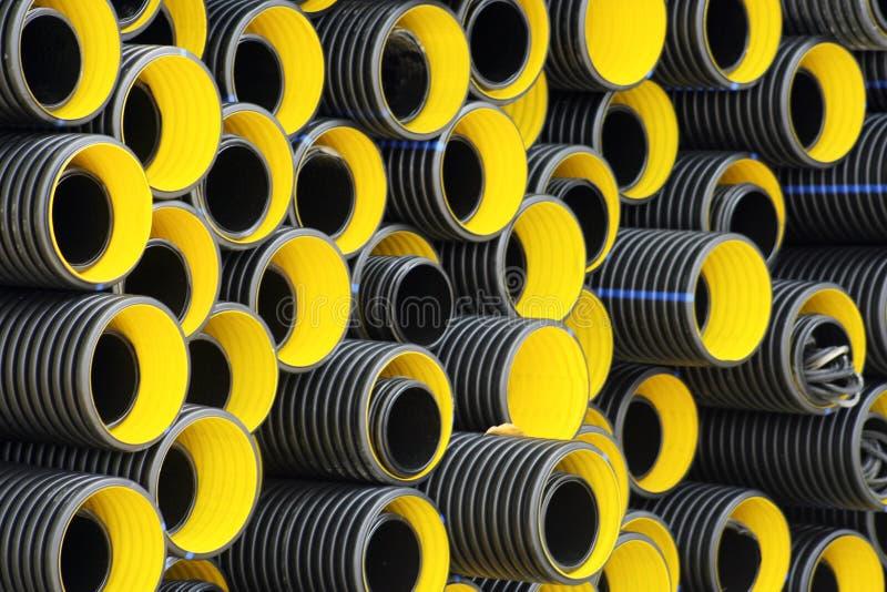 Gele pijpen stock afbeelding