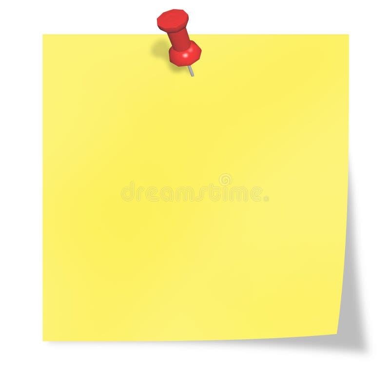 Gele post-it royalty-vrije stock afbeeldingen