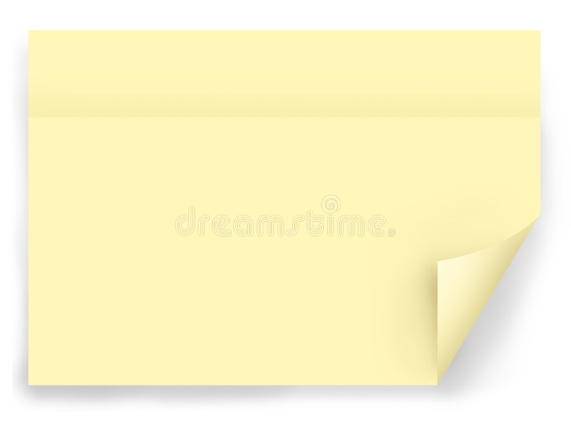 Gele post-itnota vector illustratie