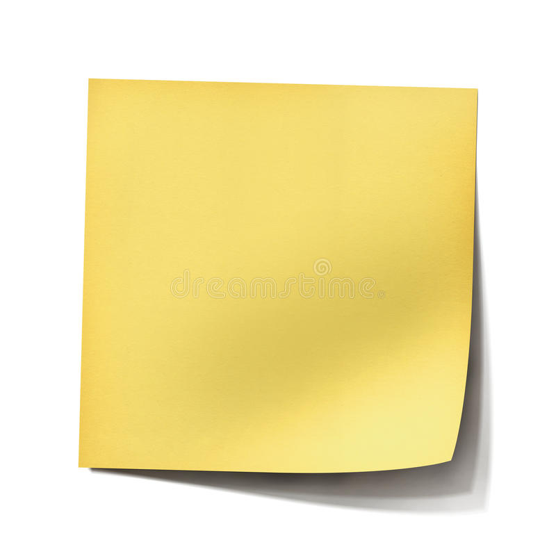 Gele post-itnota stock foto's