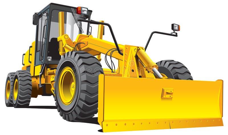 Gele roadgrader stock illustratie