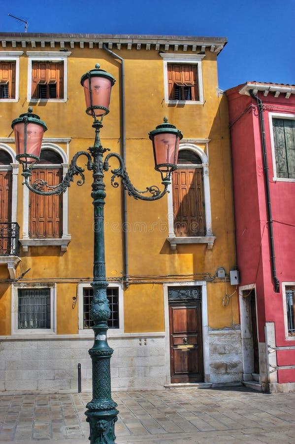 Gele, rode blauw en roze. stock afbeeldingen