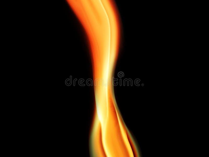 Gele rook op een zwarte achtergrond stock afbeelding