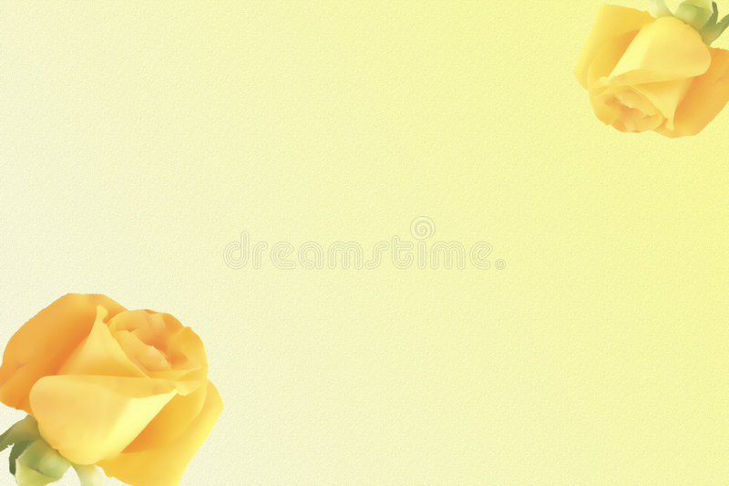 Gele rozenachtergrond royalty-vrije illustratie
