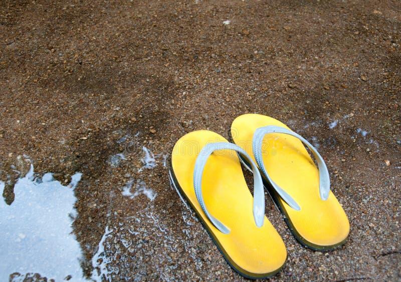 Gele rubberwipschakelaars royalty-vrije stock fotografie