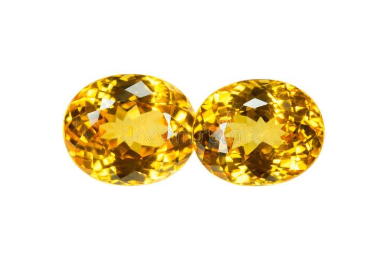 Gele saffier royalty-vrije stock afbeelding