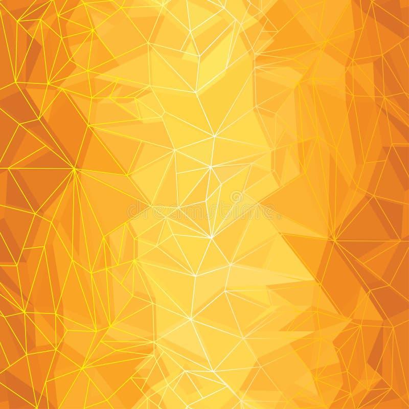 Gele Samenvatting vector illustratie