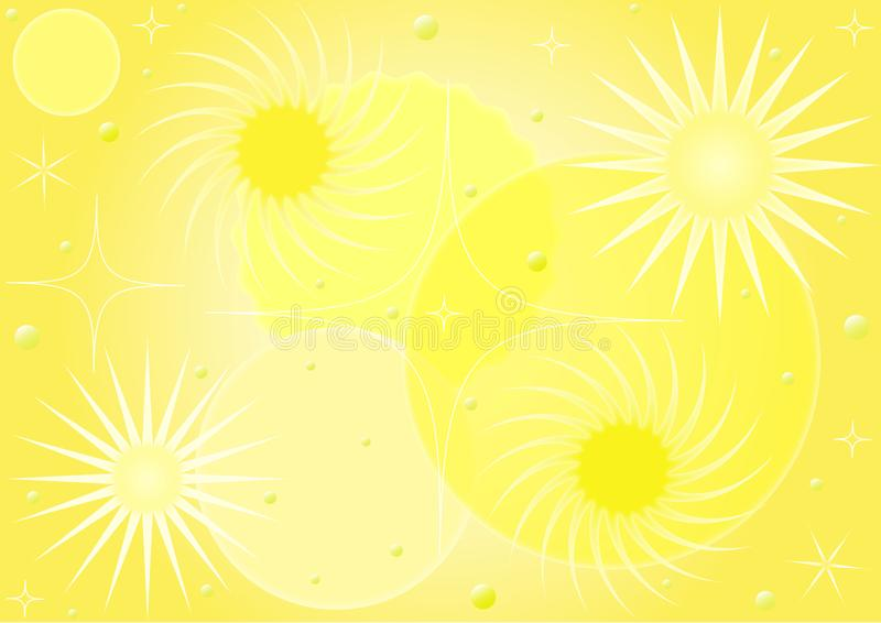 Gele samenvatting gevormde achtergrond vector illustratie