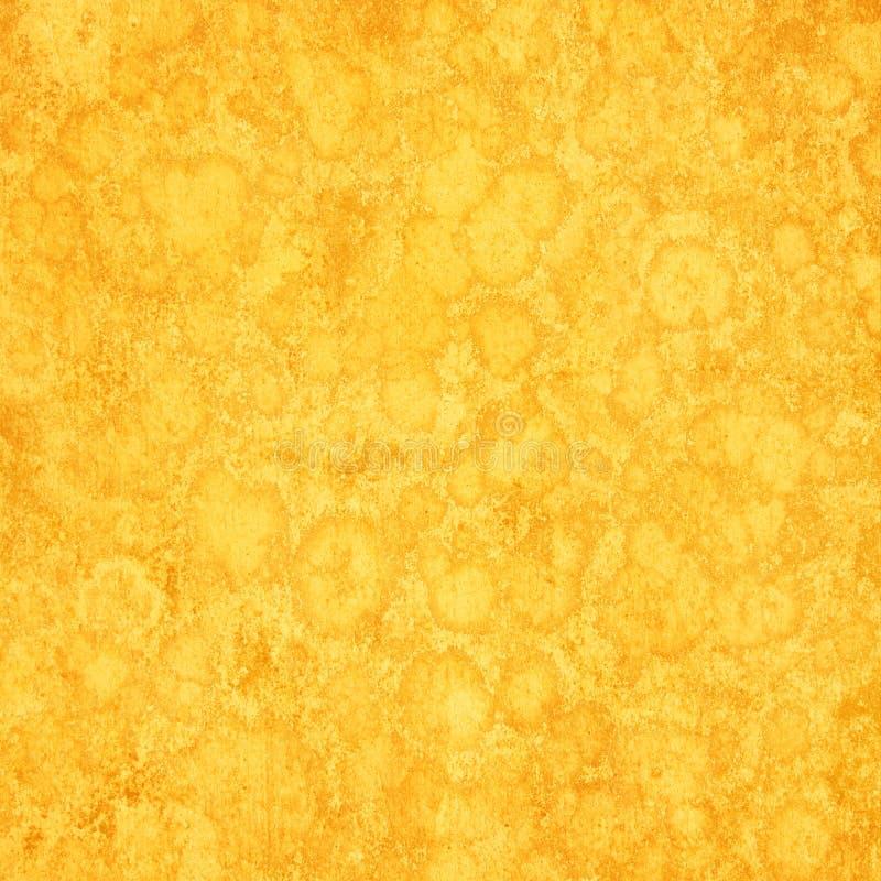 Gele slodge grunge achtergrond royalty-vrije illustratie