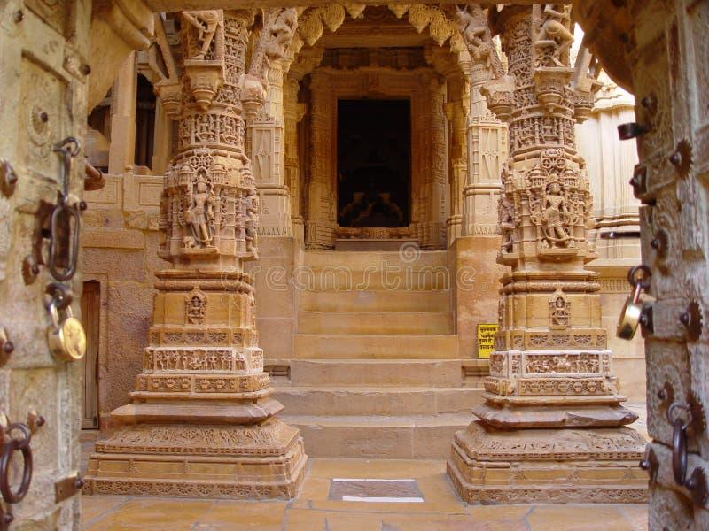 Gele steen Jaisalmer stock fotografie