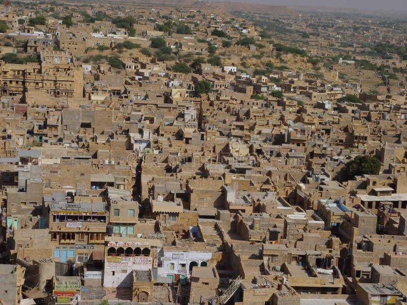 Gele steen Jaisalmer royalty-vrije stock fotografie